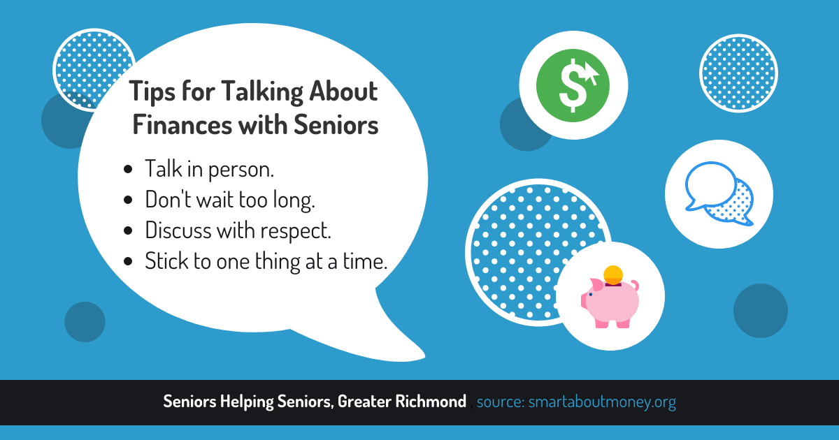 How to Help Senior Loved Ones with Finances in Retirement - talking to seniors about finances