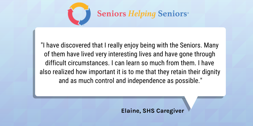 caregiver testimonial from someone with a job at SHS